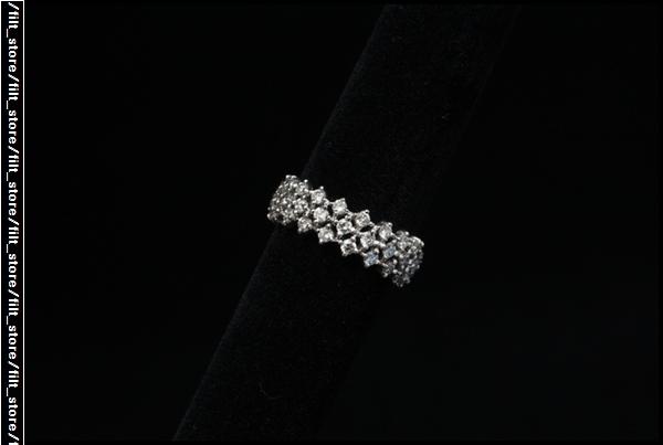AHKAH K18WGダイヤフルエタニティ ピンキーリング