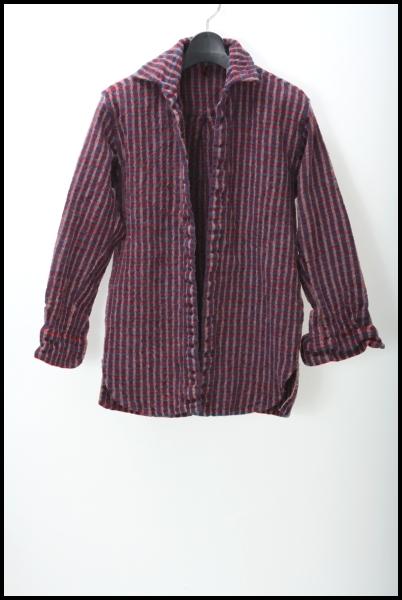 DANIELA GREGIS ウールチェック オープンシャツ