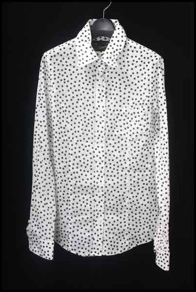 L'Appartement 襟ワイヤー ドット1ポケシャツ